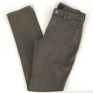 NYDJ Women 4 Legging Pant Brown Skinny Leg Stretch